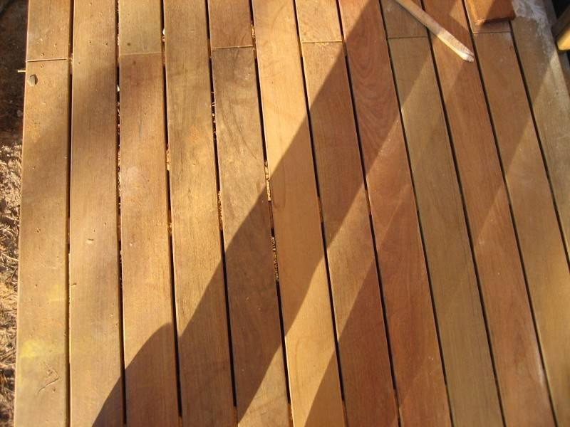 Монтаж доски из лиственницы