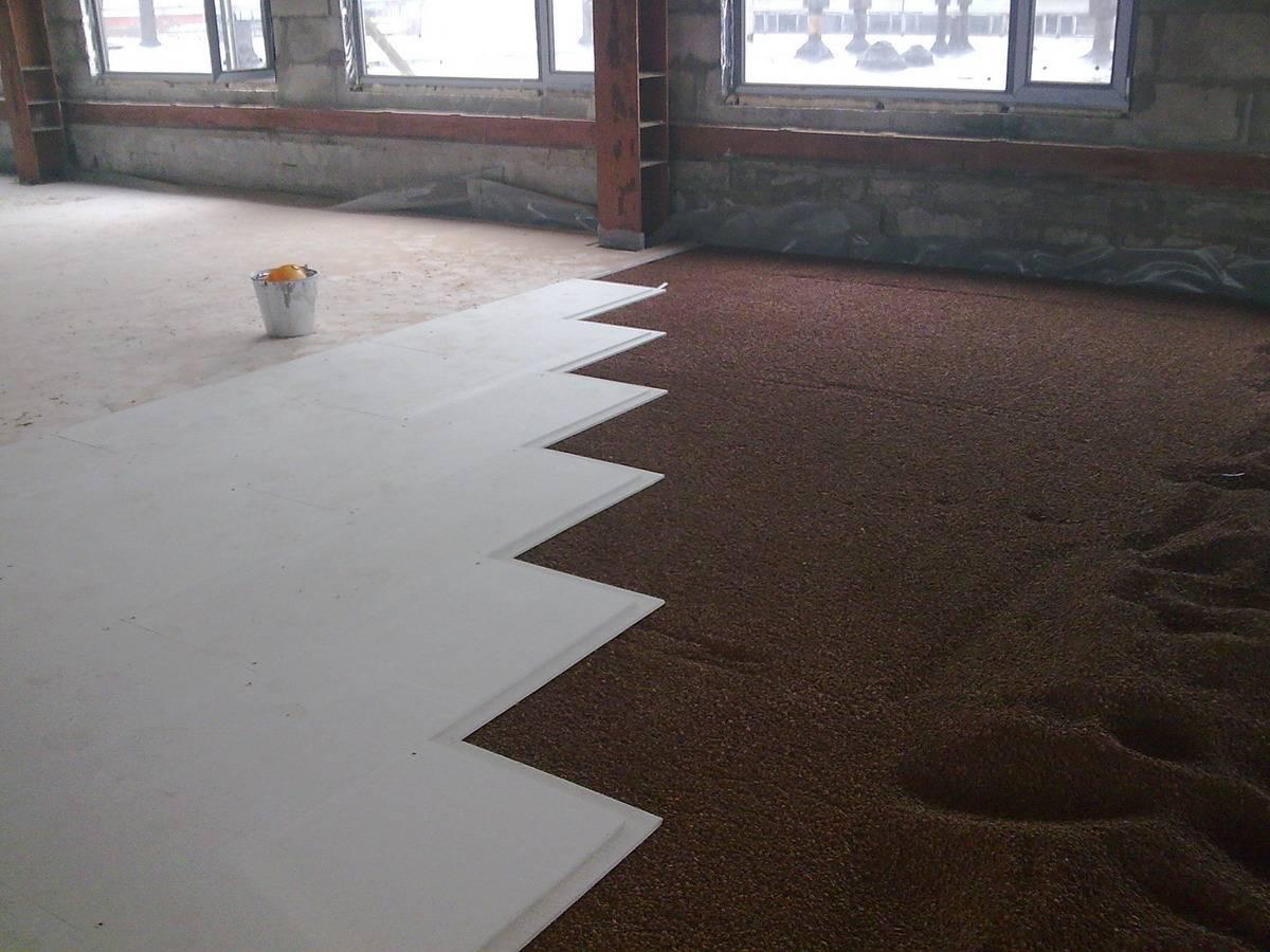 Установка напольного покрытия
