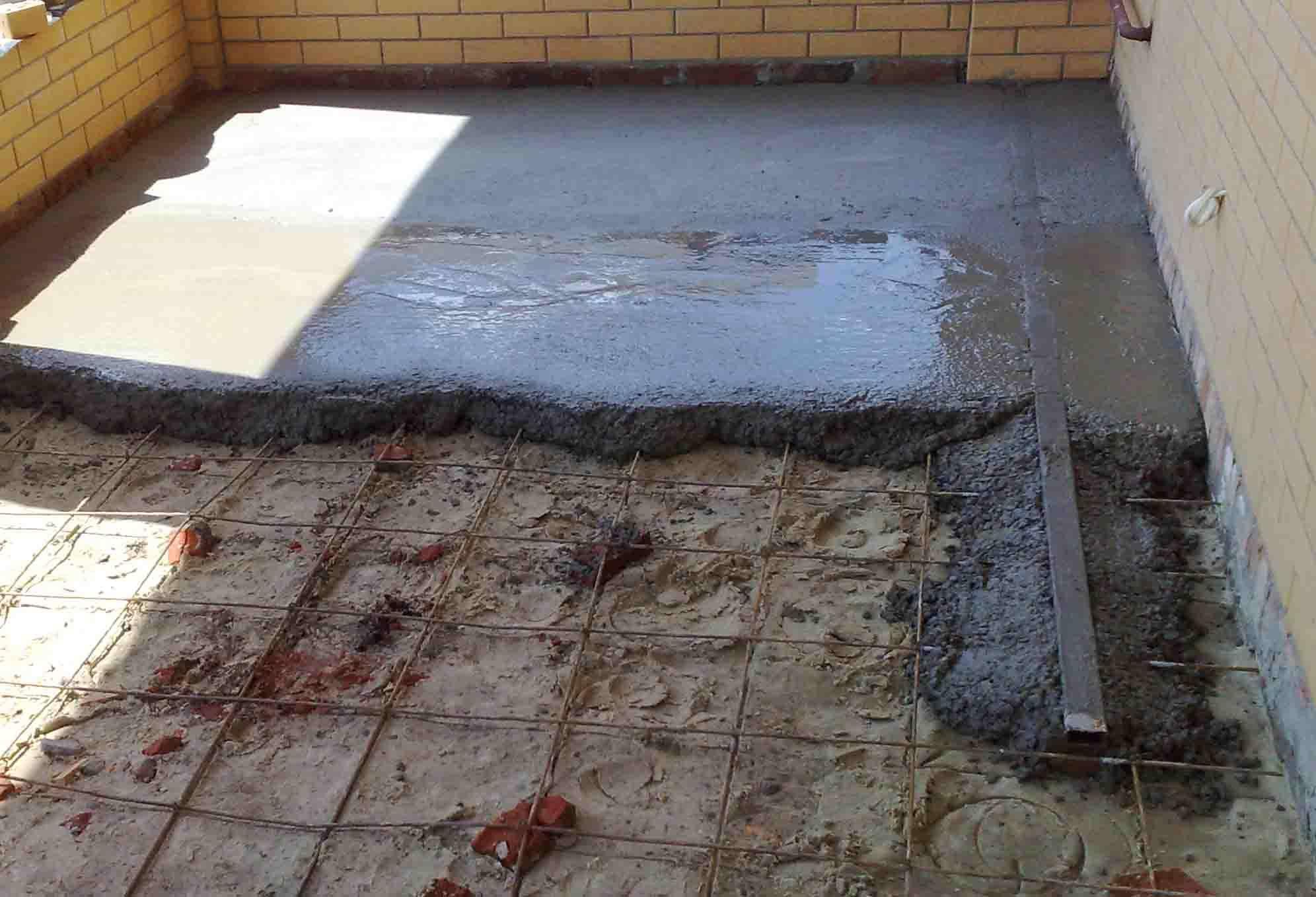 Напольное бетонное покрытие