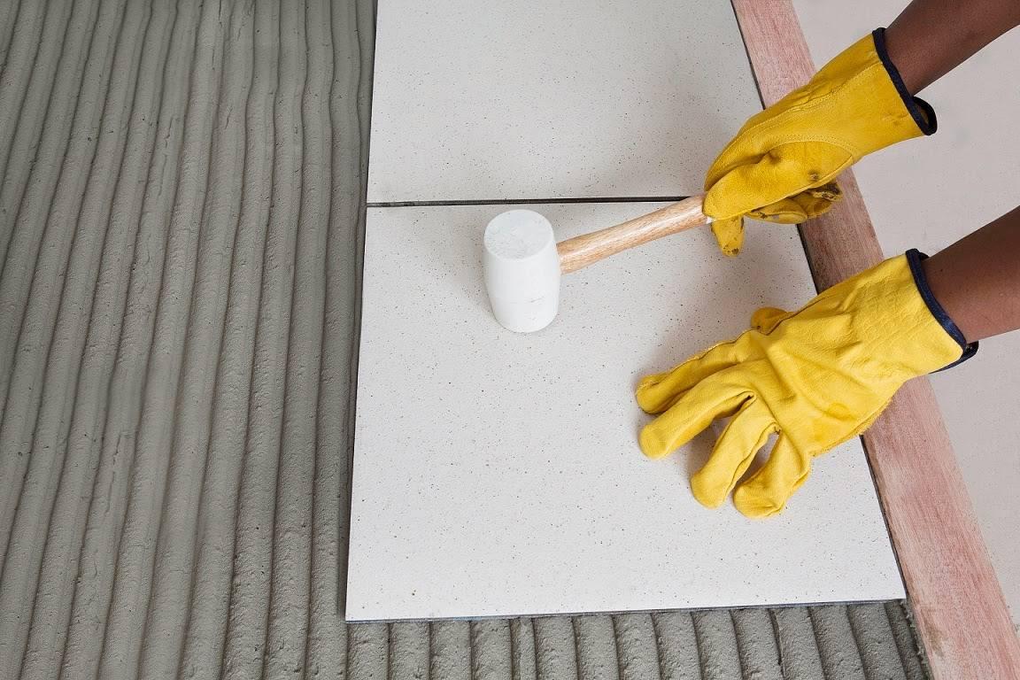 Клей для плитки напольной
