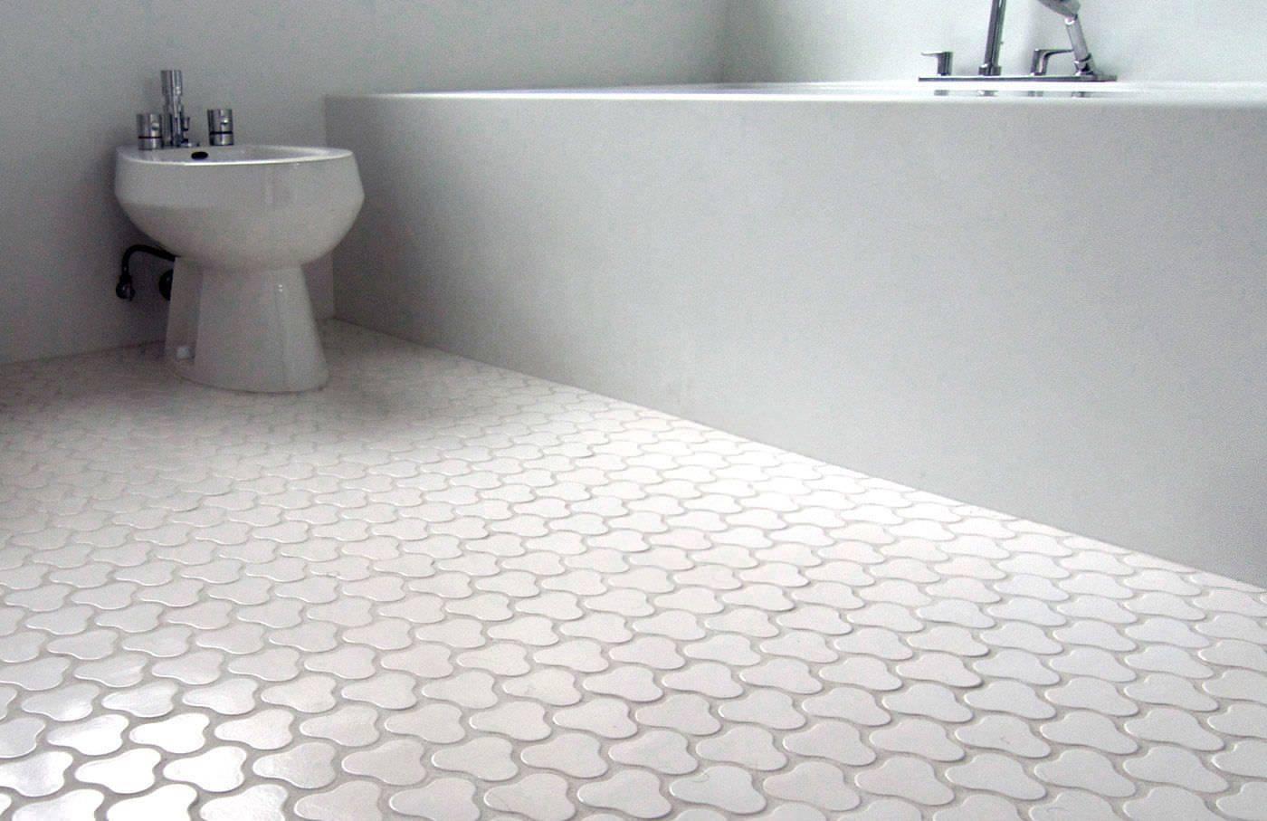 Оригинальная плитка в ванной