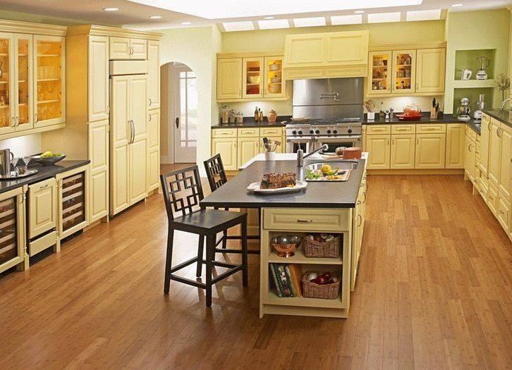 Красивый пол в кухне