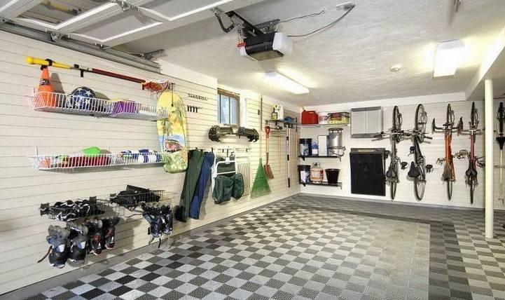 Плитка клинкерная в гараже