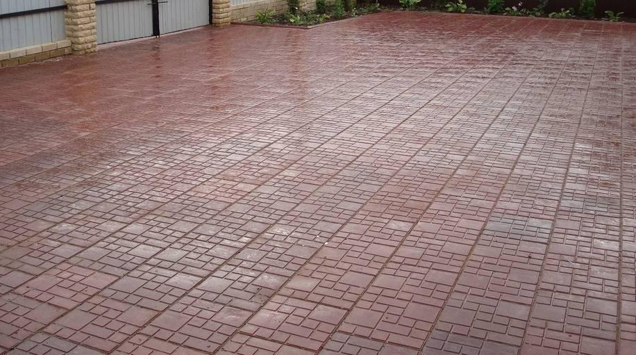 Плитка тротуарная в коричневом цвете