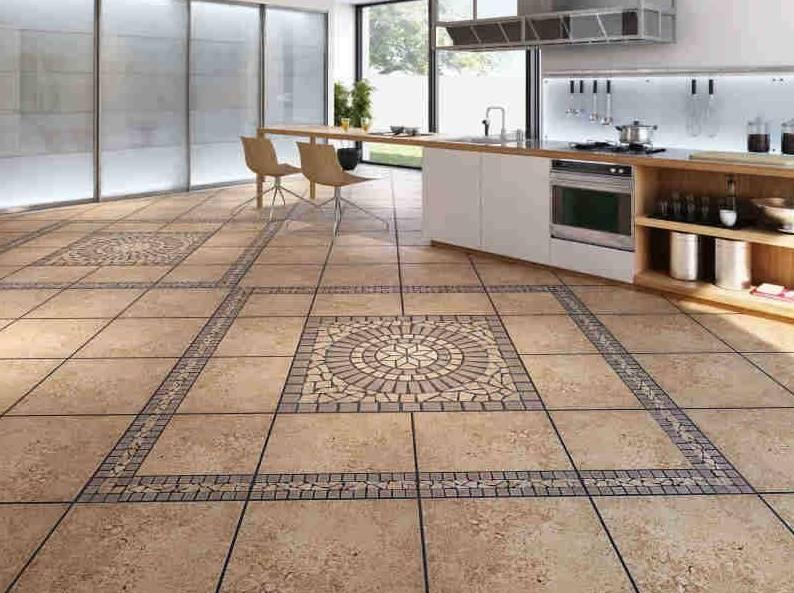 В кухне керамическая плитка