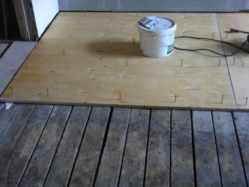Монтаж деревянного покрытия