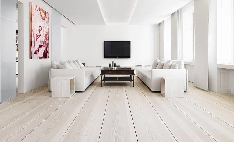 В квартире красивый пол